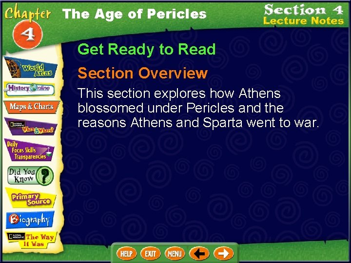 The Age of Pericles Get Ready to Read Section Overview This section explores how