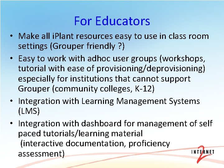 For Educators • Make all i. Plant resources easy to use in class room