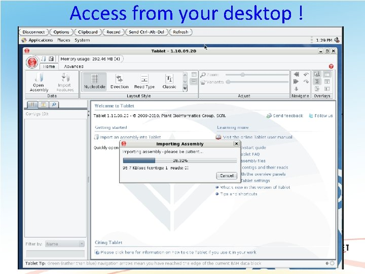 Access from your desktop ! 60