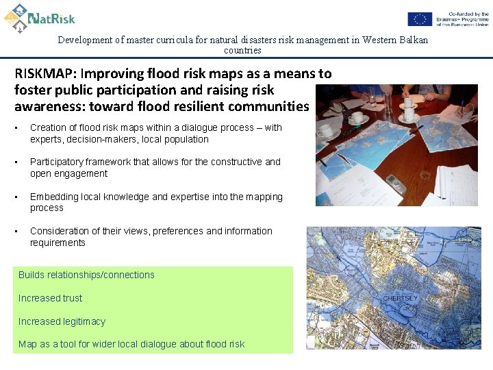 Development of master curricula for natural disasters risk management in Western Balkan countries RISKMAP: