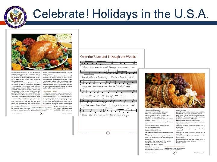 Celebrate! Holidays in the U. S. A.