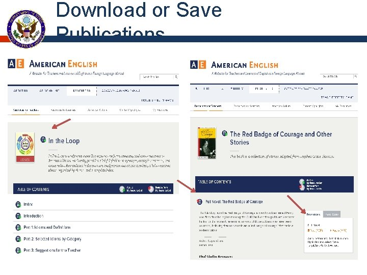 Download or Save Publications