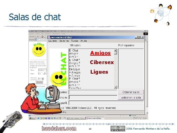 Salas de chat Amigos Cibersex Ligues 22 2006 Fernando Montero de la Peña