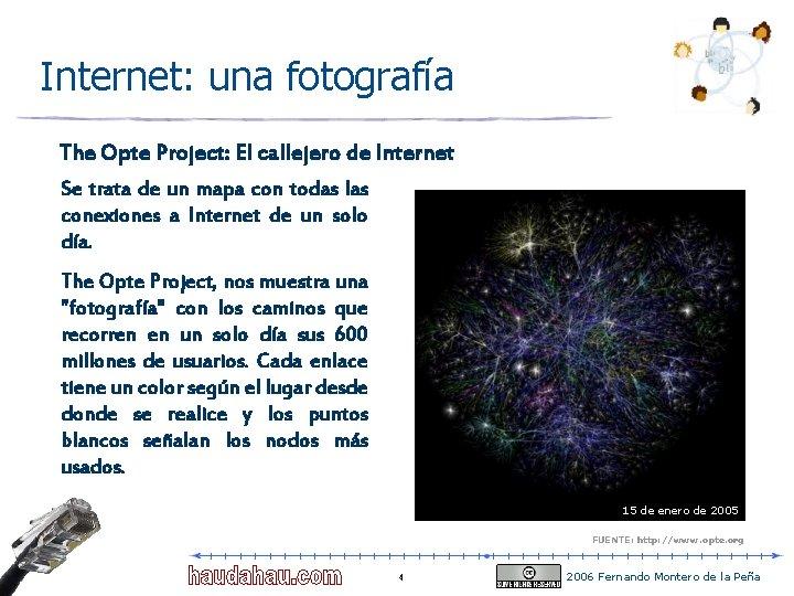 Internet: una fotografía The Opte Project: El callejero de Internet Se trata de un
