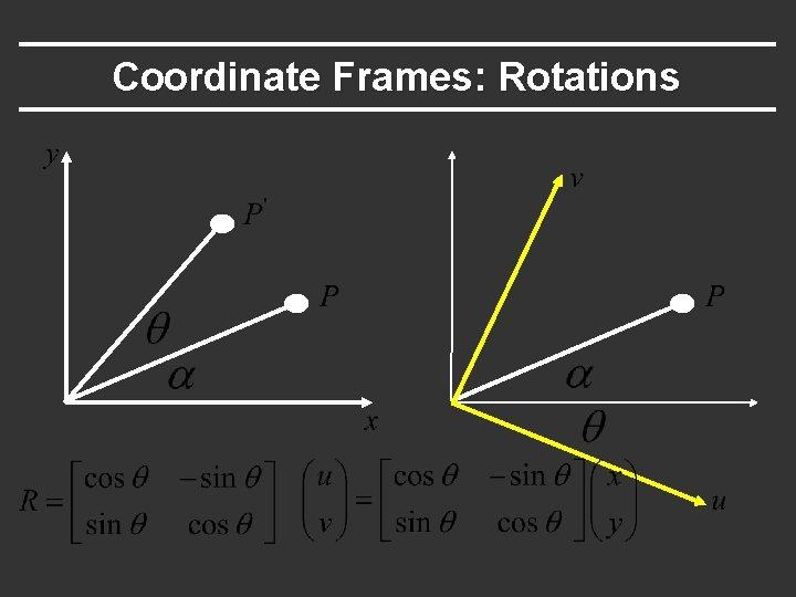 Coordinate Frames: Rotations