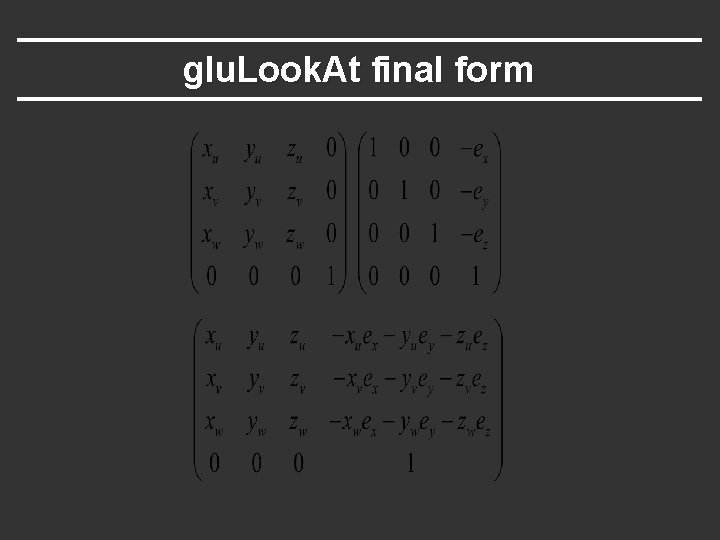 glu. Look. At final form