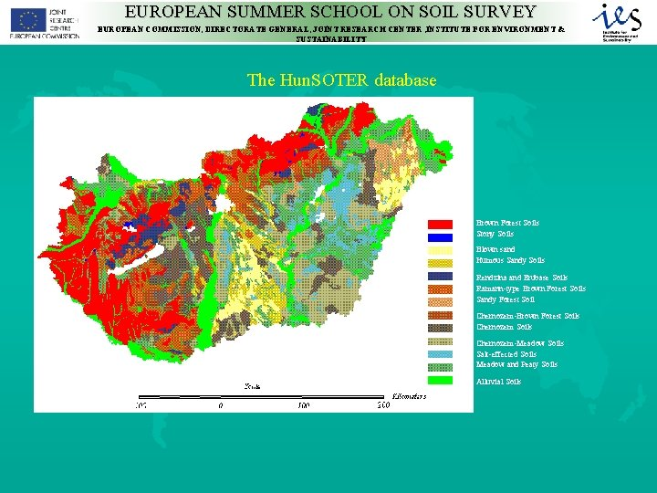 EUROPEAN SUMMER SCHOOL ON SOIL SURVEY EUROPEAN COMMISSION, DIRECTORATE GENERAL, JOINT RESEARCH CENTER ,