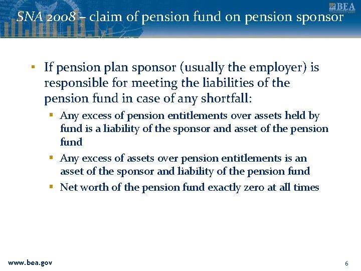 SNA 2008 – claim of pension fund on pension sponsor ▪ If pension plan
