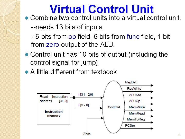 Virtual Control Unit Combine two control units into a virtual control unit. --needs 13