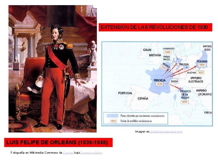 EXTENSIÓN DE LAS REVOLUCIONES DE 1830 Imagen en portalplanetasedna. com LUIS FELIPE DE ORLEÁNS