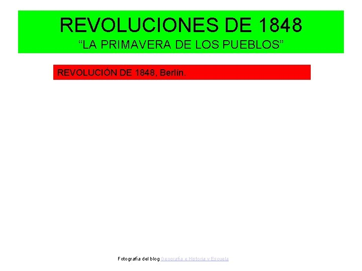 """REVOLUCIONES DE 1848 """"LA PRIMAVERA DE LOS PUEBLOS"""" REVOLUCIÓN DE 1848, Berlín. Fotografía del"""