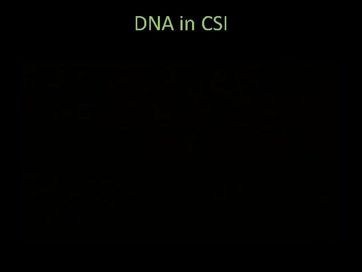DNA in CSI