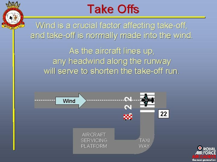Take Offs Wind is a crucial factor affecting take-off, and take-off is normally made
