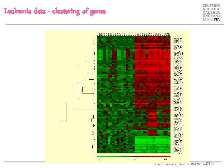 Leukemia data - clustering of genes DNA Microarray Bioinformatics - #27611