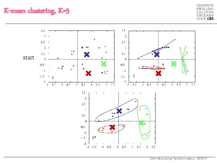 K-mean clustering, K=3 DNA Microarray Bioinformatics - #27611