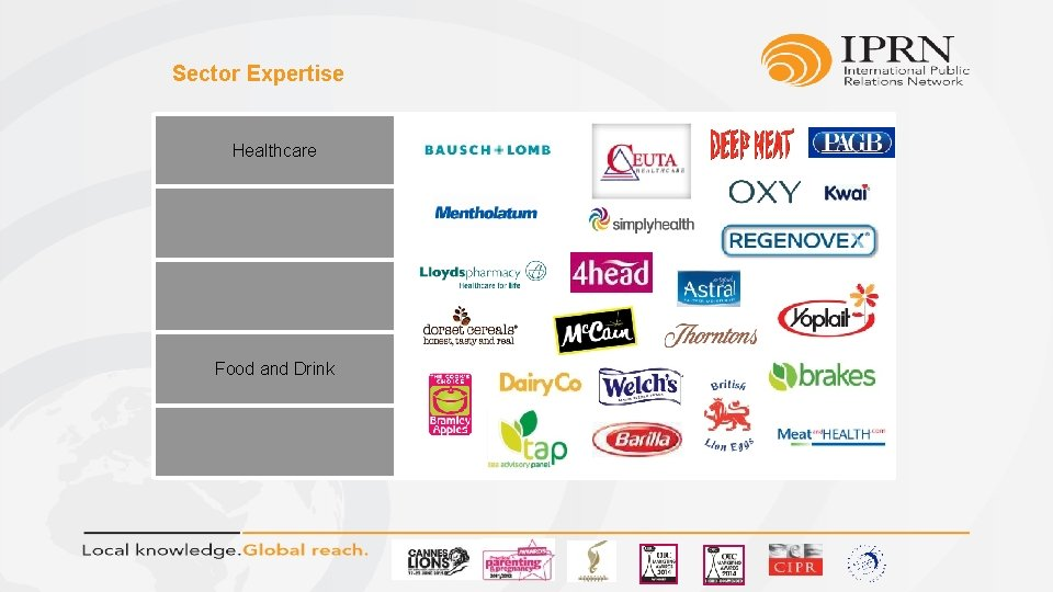 Sector Expertise Healthcare Food and Drink