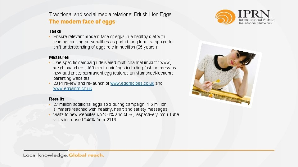 Traditional and social media relations: British Lion Eggs The modern face of eggs Tasks
