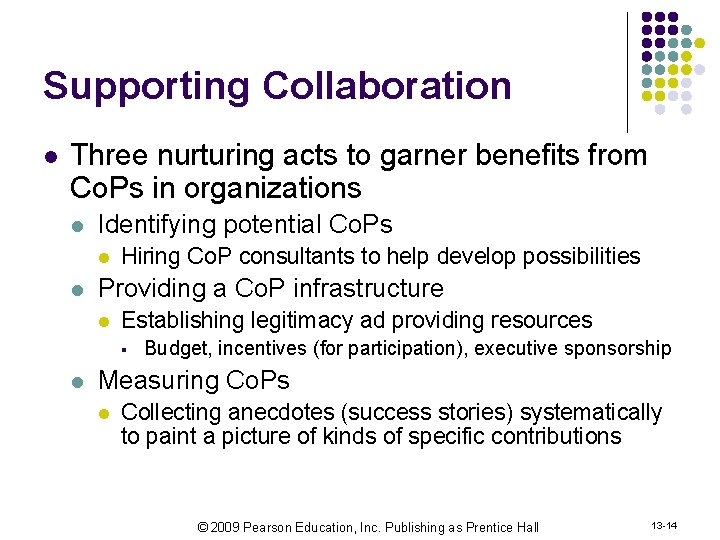 Supporting Collaboration l Three nurturing acts to garner benefits from Co. Ps in organizations