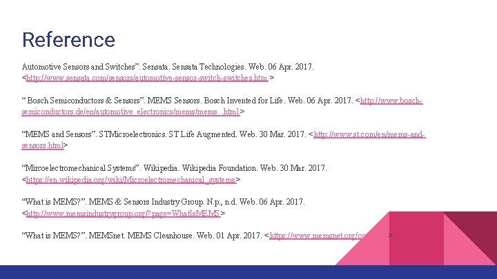 "Reference Automotive Sensors and Switches"". Sensata Technologies. Web. 06 Apr. 2017. <http: //www. sensata."