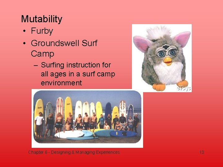 Mutability • Furby • Groundswell Surf Camp – Surfing instruction for all ages in