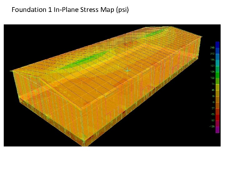 Foundation 1 In-Plane Stress Map (psi)