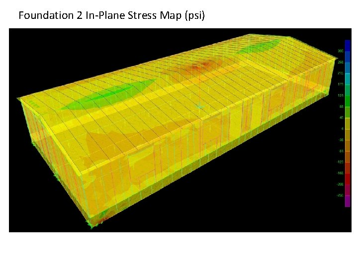 Foundation 2 In-Plane Stress Map (psi)