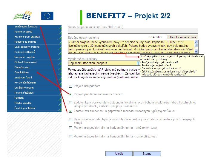 BENEFIT 7 – Projekt 2/2