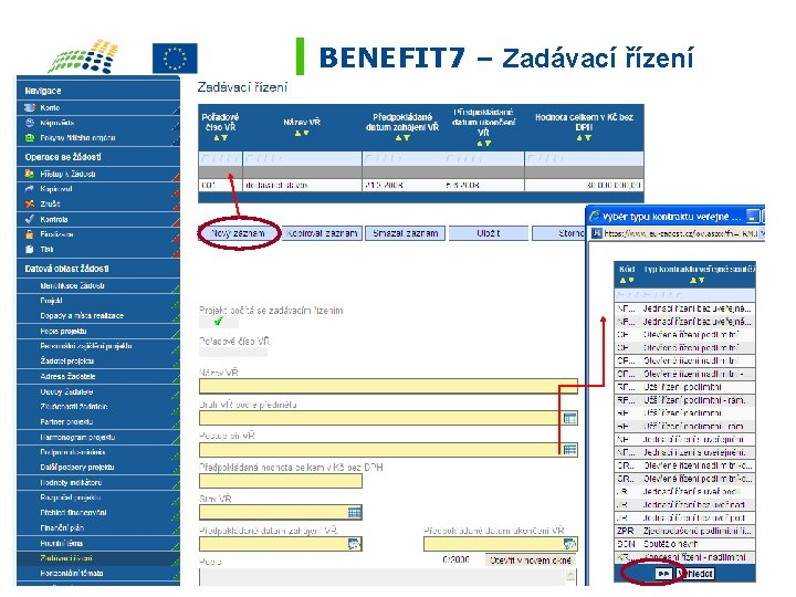 BENEFIT 7 – Zadávací řízení