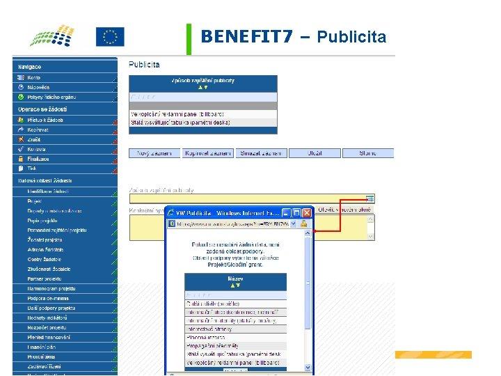 BENEFIT 7 – Publicita