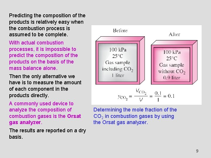 Predicting the composition of the products is relatively easy when the combustion process is