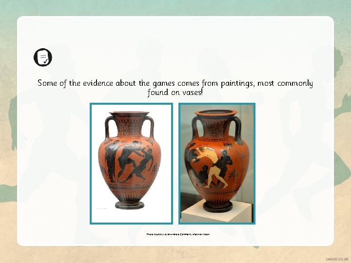 Some of the evidence about the games comes from paintings, most commonly found on
