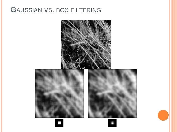 GAUSSIAN VS. BOX FILTERING