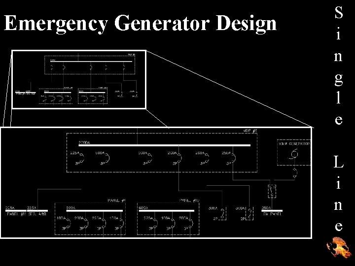Emergency Generator Design S i n g l e L i n e
