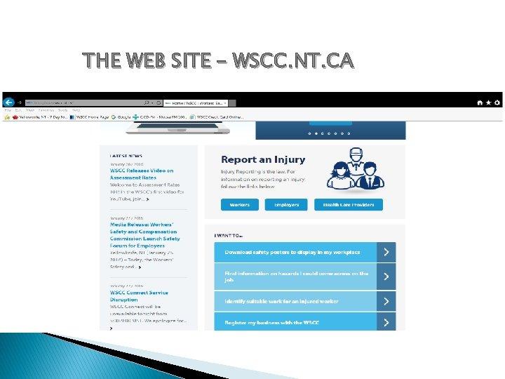 THE WEB SITE – WSCC. NT. CA