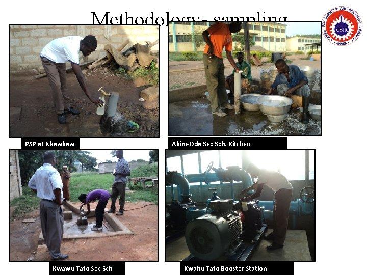 Methodology- sampling PSP at Nkawkaw Kwawu Tafo Sec Sch Akim-Oda Sec Sch. Kitchen Kwahu