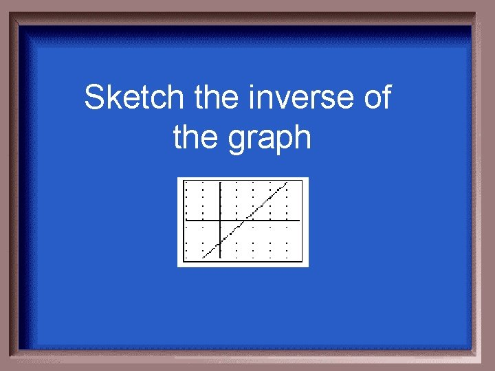 Sketch the inverse of the graph
