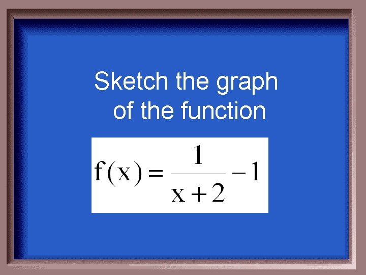 Sketch the graph of the function