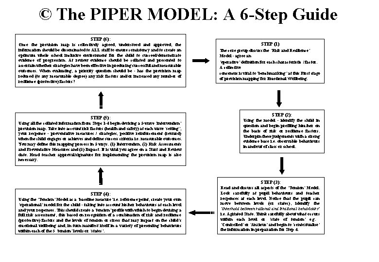 © The PIPER MODEL: A 6 -Step Guide STEP (6): Once the provision map