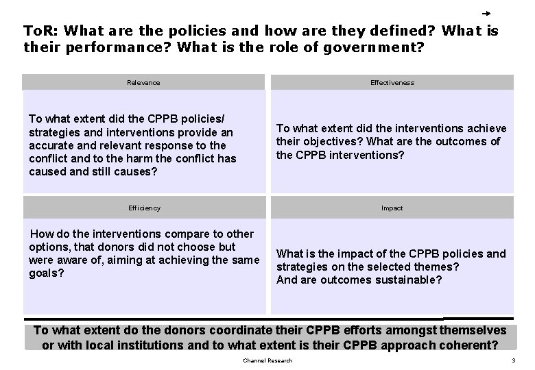 To. R: What are the policies and how are they defined? What is their