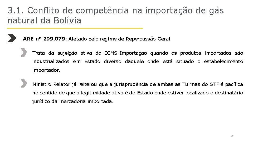 3. 1. Conflito de competência na importação de gás natural da Bolívia ARE nº