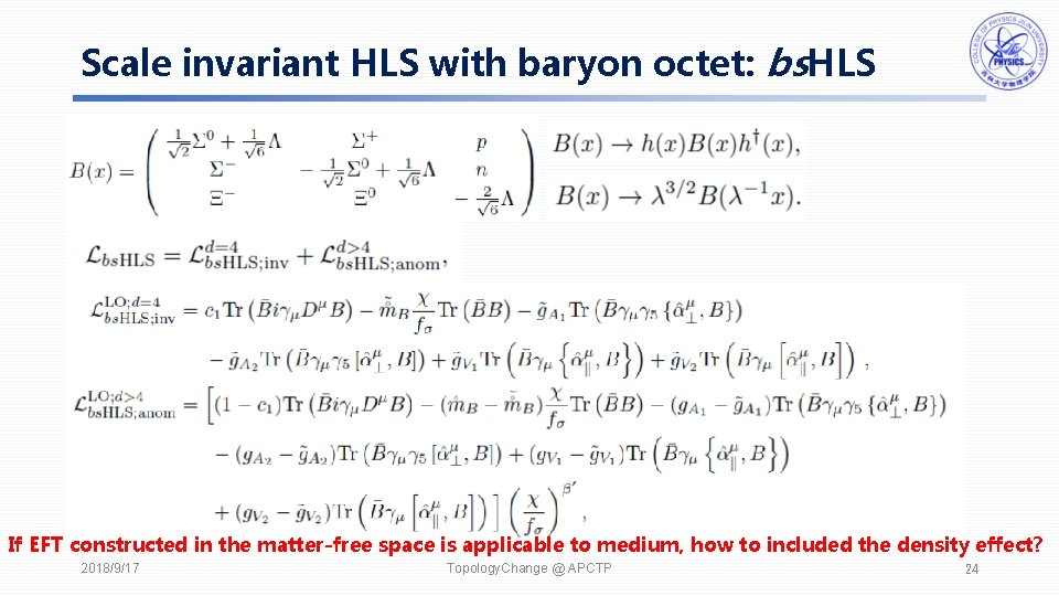 Scale invariant HLS with baryon octet: bs. HLS If EFT constructed in the matter-free