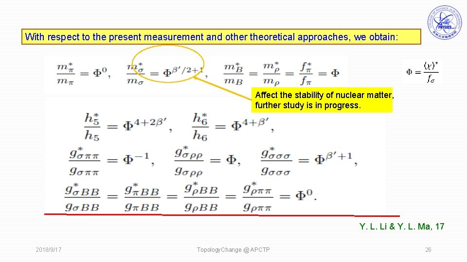 With respect to the present measurement and other theoretical approaches, we obtain: Affect the