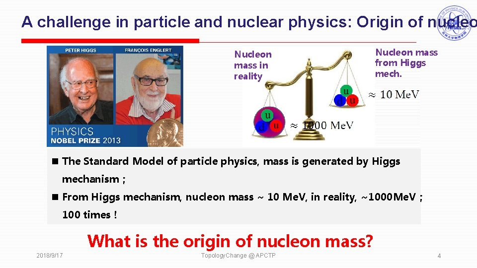 A challenge in particle and nuclear physics: Origin of nucleo Nucleon mass in reality