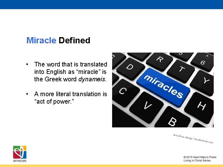 """Miracle Defined • The word that is translated into English as """"miracle"""" is the"""