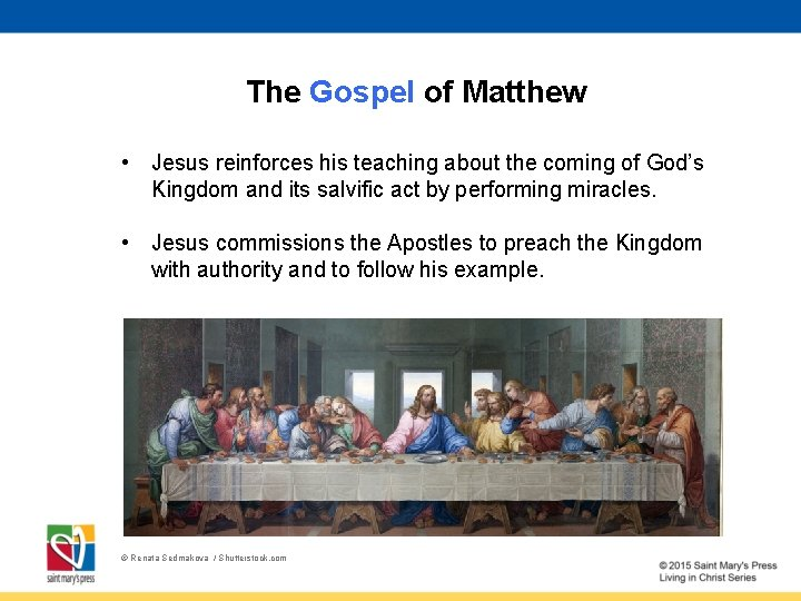 The Gospel of Matthew • Jesus reinforces his teaching about the coming of God's