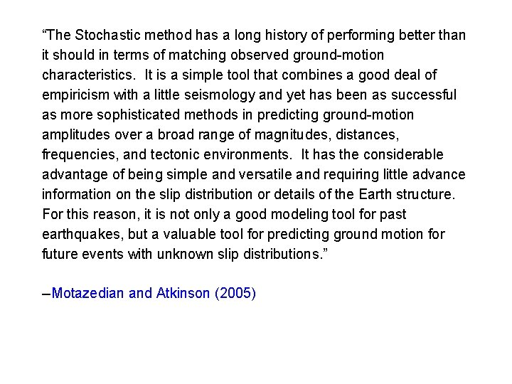"""""""The Stochastic method has a long history of performing better than it should in"""
