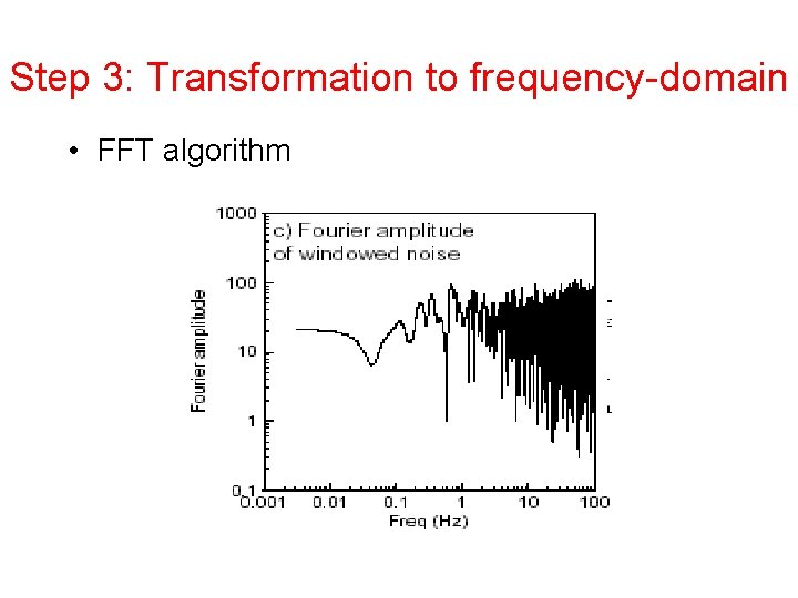 Step 3: Transformation to frequency-domain • FFT algorithm 20