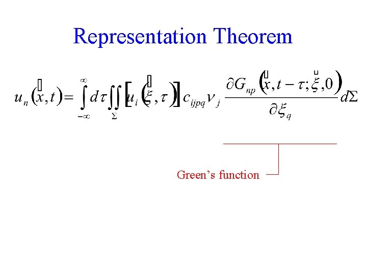 Representation Theorem Green's function 7