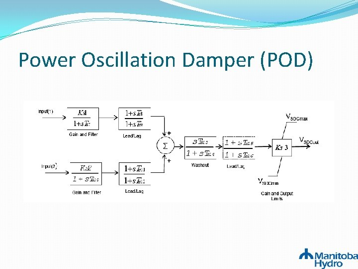 Power Oscillation Damper (POD)