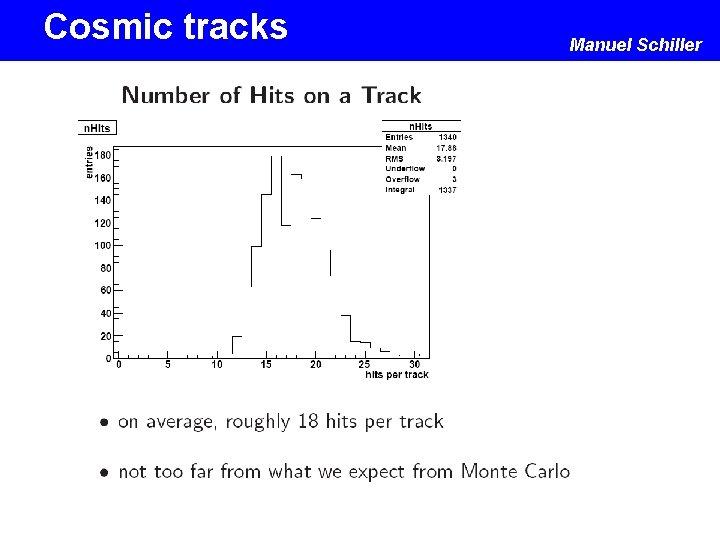 Cosmic tracks Manuel Schiller